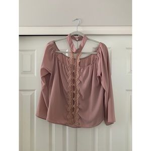 Charlotte Russe Blush Pink Blouse